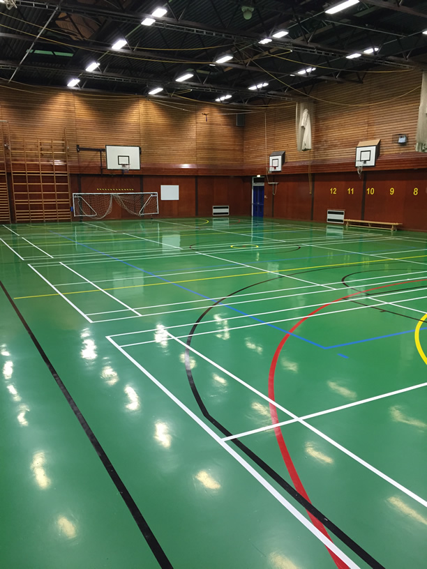 sports hall line marking comapny